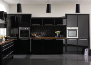 Kitchen decorating ideas:black kitchen